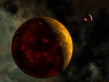 Artist&#39;s Concept of a Young  Turbulent Earth