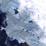 A Small Field of Glaciers Surrounds Baffin Bay Along Greenland's Western Coast