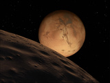 Mars Seen from its Outer Moon  Deimos