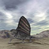 Dimetrodon Grandis Traverses Earth During the Early Permian Period