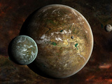 A System of Extraterrestrial Planets and their Moons