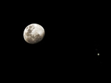 Earth's Moon and Jupiter Separated by Six Degrees