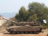 The Merkava Mark III-D main battle tank of the Israel Defense Force