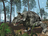A Herbivorous Dinocephalian Therapsid Grazes on a Hilltop