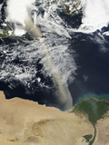 A Dust Plume Stretches across the Mediterranean Sea