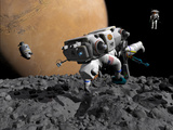 An Astronaut Makes First Human Contact with Mars&#39; Moon Phobos