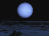 Artist&#39; Concept of Neptune as Seen from its Largest Moon Triton