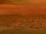 Artist's Concept of the Surface of Saturn's Moon Titan