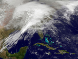 Satellite View of a Massive Winter Storm over the United States