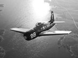 A Grumman F8F Bearcat in Flight