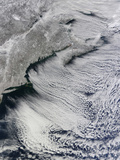 Satellite View of Clouds across the Skies of the North Atlantic
