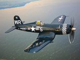 A Vought F4U-5 Corsair in Flight