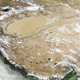 Satellite View of the Tibetan Plateau