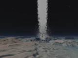 Eruption of an Ice Volcanoe on the Surface of Neptunes Moon Triton