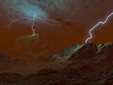 Artist&#39;s Concept of Lightning in Venus&#39; Clouds