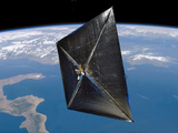 Artist Concept of NanoSail-D in Space