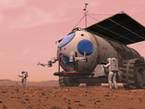 Artist's Concept of How a Martian Motorhome Might Be Realized