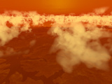 Artist's Concept of Methane Clouds over Titan's South Pole
