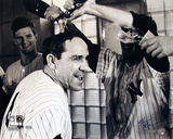 Ken Regan Autographed Yogi Berra Champagne Celebration B&W Horizontal Photograph