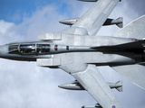 A Royal Air Force Tornado GR4 Low Flying over North Wales