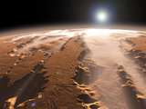 Artist&#39;s Concept of the Valles Marineris Canyons on Mars