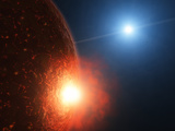 A Planetesimal Collides with a Small Semi-Molten Planet