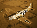 A North American P-51D Mustang in Flight