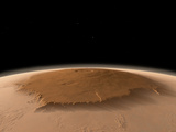 Artist's Concept of the Northwest Side of the Olympus Mons Volcano on Mars