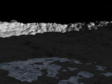 Illustration of a Deep Crater on the Surface of the Moon