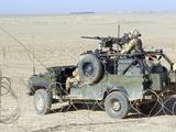 Gurkhas Patrol Afghanistan in a Land Rover
