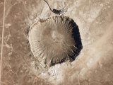 A Meteorite Impact Crater in the Northern Arizona Desert of the United States