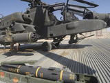 An AGM-114 Hellfire Missile Is Ready to Be Loaded onto an AH-64 Apache