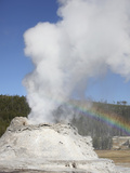 Castle Geyser Eruption  Upper Geyser Basin Geothermal Area  Yellowstone National Park  Wyoming