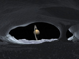 Artist's Concept of How Saturn Might Appear from Within a Hypothetical Ice Cave on Iapetus