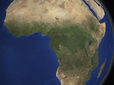 Earth Showing Landcover over Africa