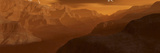 Illustration of the Maxwell Montes Mountain Range on the Planet Venus