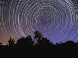 Circular Star Trails Taken from Alentejo  Portugal