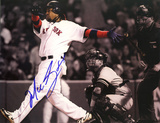 Manny Ramirez Autographed Sepia Tone Home Run vs Yankees Photograph