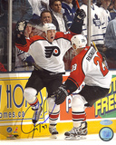 Jeremy Roenick Autographed Game Winning Goal Celebration Vertical Photo
