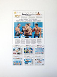 Michael Phelps Autographed New York Times Exclusive Collage