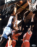 John Starks Autographed Close up Dunk