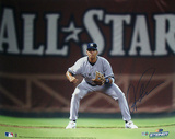 Alex Rodriguez Fielding w All Star in Background Horizontal Photo MLB Auth