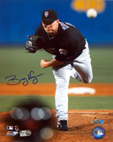 Billy Wagner Autographed Away Pitching vs Atlanta Photograph