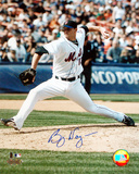 Billy Wagner Autographed Vertical Pitching Photograph