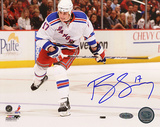 Brandon Dubinsky Autographed White Jersey Slap Shot Photograph