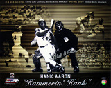 Hank Aaron Autographed 'Hammerin Hank' Photo Collage