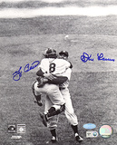 Yogi Berra &amp; Don Larsen Dual Autographed Hug Photograph