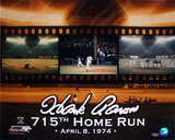 Hank Aaron - 715th Home Run Color Autographed Photo (Hand Signed Collectable)