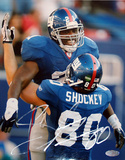 Jeremy Shockey Celebrating with Tiki Autographed Photo (Hand Signed Collectable)