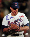 Nolan Ryan Autographed Blood Photograph